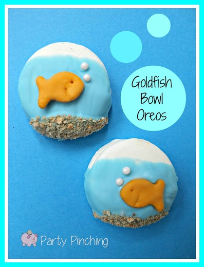Goldfish cookie, goldfish oreo, goldfish bowl snack, shark week