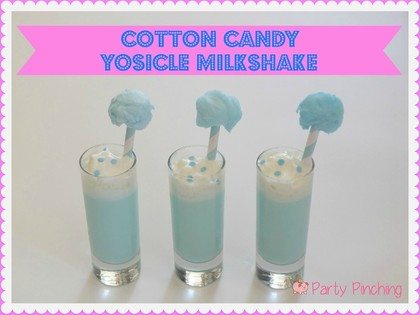 cotton candy milkshake, cotton candy yosicle, yosicle popsicles, cute milkshakes, mini milkshakes, state fair milkshakes