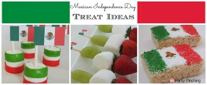Mexican Independence Day treat ideas, Mexican Independence Day food, Mexican Independence day party ideas, Rice Krispie Treat Mexican Flag, Marshmallow Mexican Flag