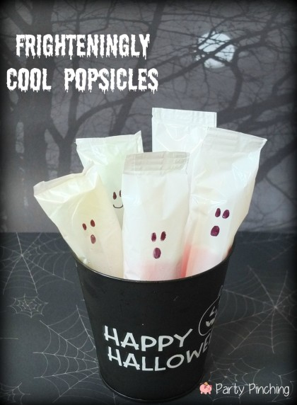 ghost popsicles, halloween party ideas, easy halloween desserts, halloween party for kids
