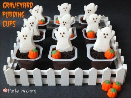 graveyard pudding cups ghost pudding cups halloween party for kids easy halloween dessert