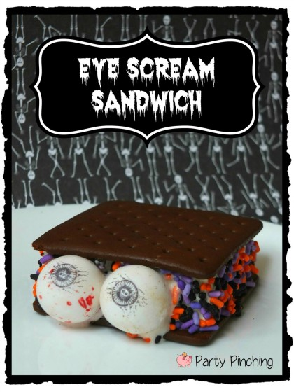 halloween ice cream party ideas, kids halloween party ideas, halloween food, easy halloween desserts