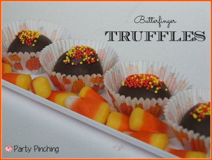 Butterfinger truffles, homemade butterfingers, candy corn butterfingers