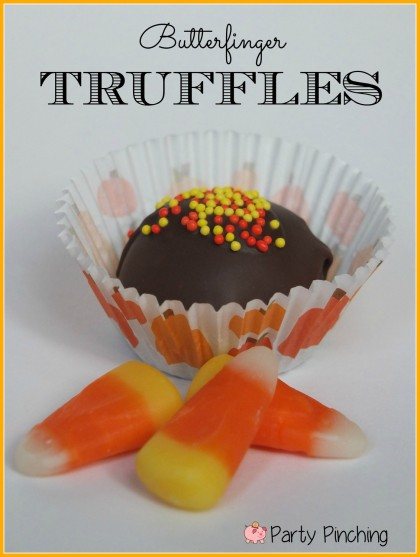 Butterfinger truffles, homemade butterfingers, candy corn ...