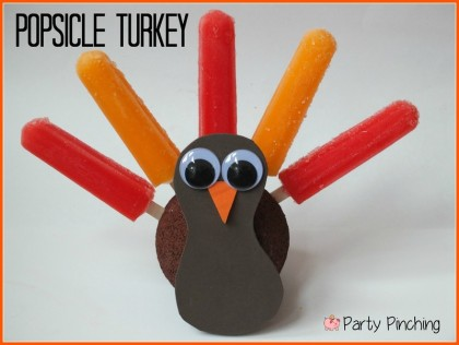 popsicle turkey, kids thanksgiving ideas, thanksgiving food for kids, thanksgiving crafts, cute turkey craft