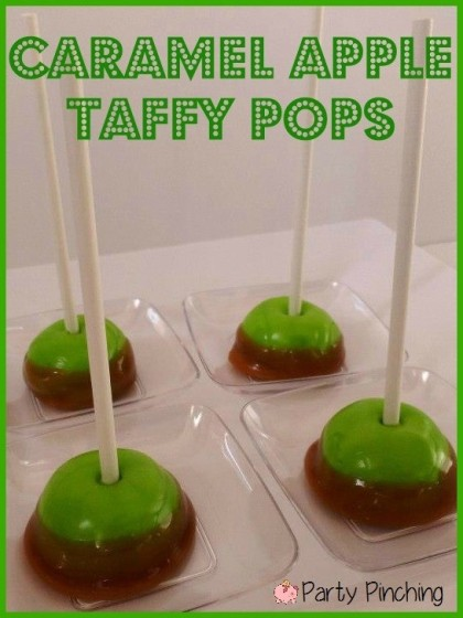caramel apple pops, caramel apple candy, mini caramel apples