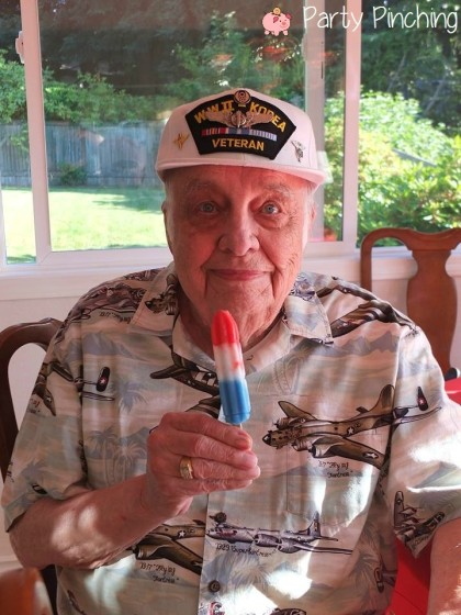 4th of july popsicle, veteran popsicle, patriotic popsicle, popsicle party