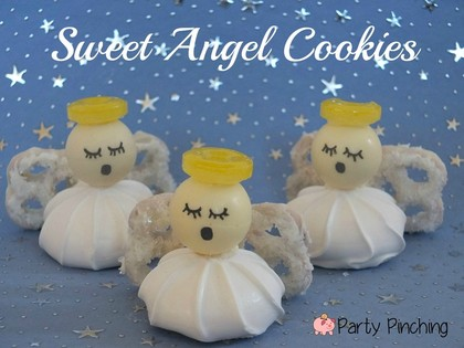 angel cookies, angel treats, easy christmas cookies, lindt lindor truffles