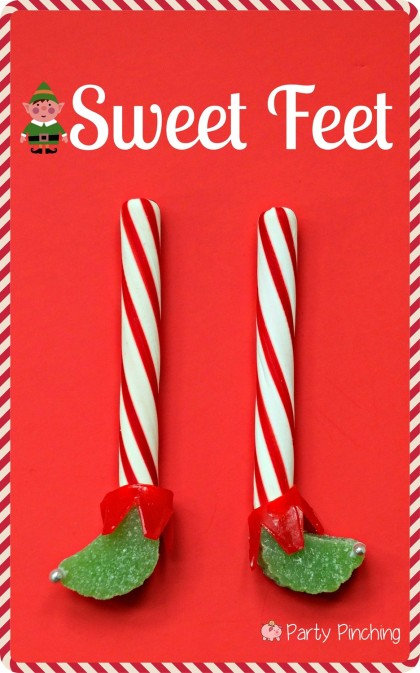elf feet, easy christmas ideas, easy christmas candy ideas, christmas candy for kids