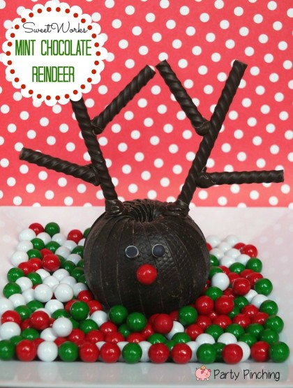 sweetworks ovation chocolate, christmas chocolate mint reindeer