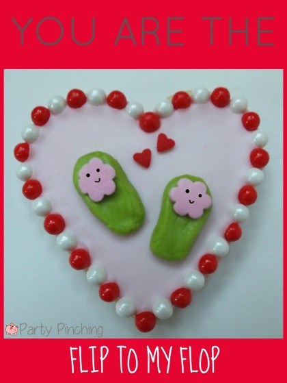 valentine's day cookies, cute valentine's day cookies, valentine's day party ideas, kid's valentine's party ideas, flip flop cookies