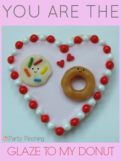 valentine's day cookies, cute valentine's day cookies, valentine's day party ideas, kid's valentine's party ideas, donut cookies, heart cookies