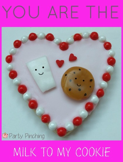 valentine's day cookies, cute valentine's day cookies, valentine's day party ideas, kid's valentine's party ideas, milk and cookie cookies, heart cookies