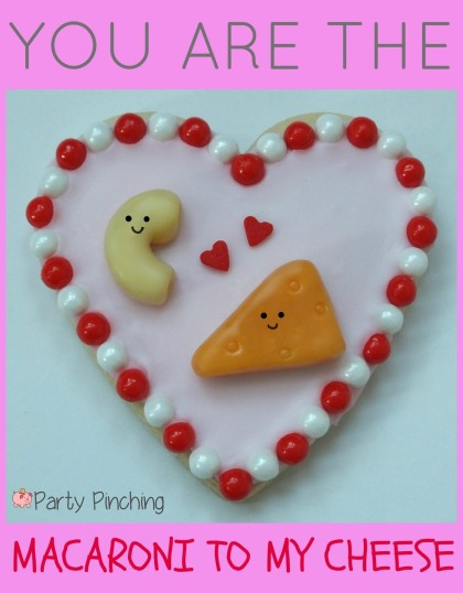 heart cookies, valentine's day cookies, cute valentine's day cookies, valentine's day party ideas, kid's valentine's party ideas, macaroni and cheese cookies