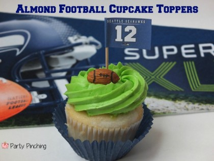 super bowl ideas, super bowl cupcakes, football cupcakes, easy super bowl food