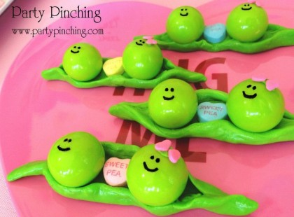sweet pea cupcake toppers, valentine dessert ideas, cute valetine dessert, valentine party for kids, baby shower sweet pea