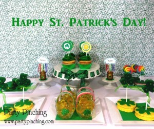 St. Patrick's day party ideas, easy desserts for st. patrick's day, shamrock cookies, pot of gold desserts, st. patrick's day for kids