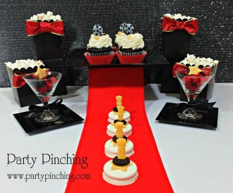 movie party ideas, red carpet party ideas, academy awards party ideas, oscar party ideas