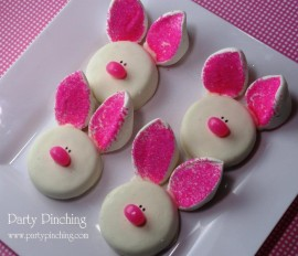 easy Easter desserts, easter treat ideas, bunny cookies, easter cookie ideas