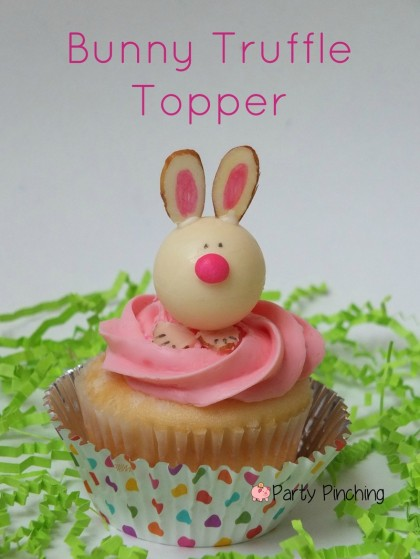 bunny cupcakes, easter cupcakes, lindt lindor truffles, easy easter dessert ideas, cute easter dessert