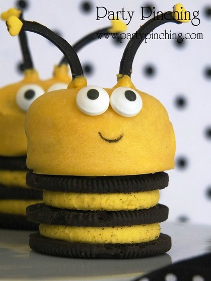 bee cookies, bee Oreos, spring Oreos, bee party ideas, spring cookies, easter cookies, easy bee cookies for kids