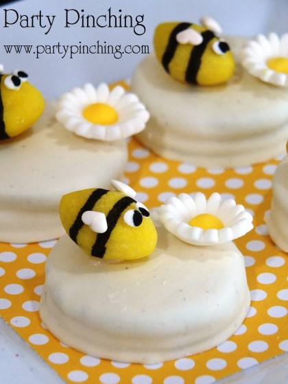 bee lemon drops, bee cookies, bee cupcakes, bee party ideas, cute bee dessert ideas, honeybee treats