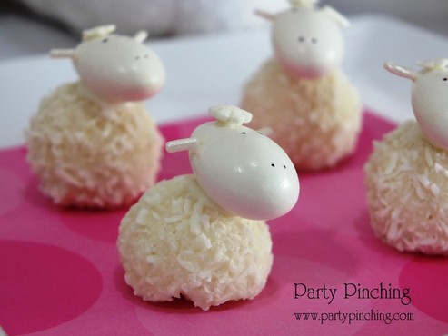 easter lamb candy, cute easter lamb cupcake toppers, easter lamb recipes, easter dessert treat ideas for kids