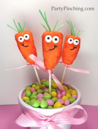 easter dessert ideas, easter dessert for kids, easter carrot, easter dessert, easter treat, rice krispie treat, cute food, cute carrot