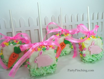 Easter dessert ideas, easter dessert for kids, easter rice krispie treats, cute easter ideas