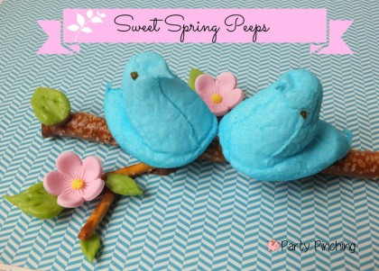 Peeps, spring peeps, cute food, cute peeps, easter peeps, bunny peeps, easter party ideas, peep party