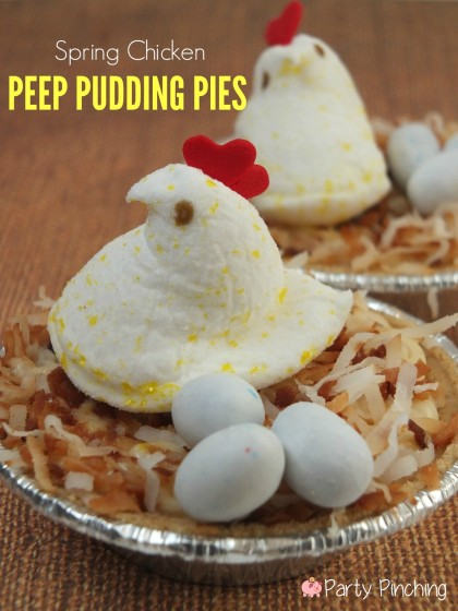 easter pie, barnyard party treats, farm party ideas, Peeps, spring peeps, cute food, cute peeps, easter peeps, peeps, easter party ideas, peep party