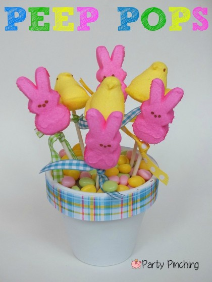 Peep pops, Peeps, spring peeps, cute food, cute peeps, easter peeps, bunny peeps, easter party ideas, peep party