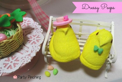 dressed up peeps, peep chicks, easter peeps, Peeps, spring peeps, cute food, cute peeps, easter peeps, bunny peeps, easter party ideas, peep party