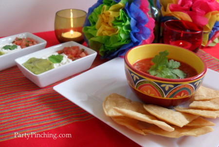 cinco de mayo ideas, mexican flag food, mexican flag appetizer, mexican flag salsa, cinco de mayo food, fiesta food, cinco de mayo party, cinco de mayo ideas
