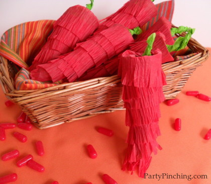 cinco de mayo craft, cinco de mayo pinata, cinco de mayo party favor, hot tamales, cinco de mayo chili pepper