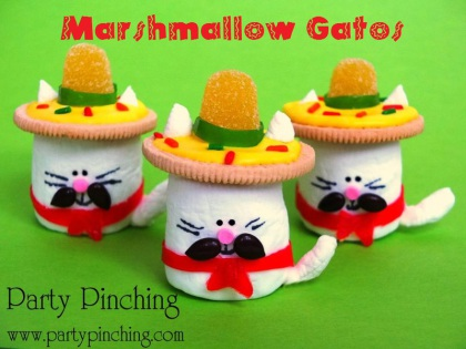 cinco de mayo ideas, cinco de mayo desserts, fiesta party ideas, fiesta theme parties, cinco de mayo for kids, cinco de mayo treats, cinco de mayo crafts, cinco de mayo party ideas, marshmallow cats