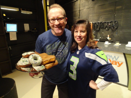 Norene Cox, Party Pinching, Mark Klebeck, Top Pot Doughnuts, New Day Northwest, KING 5