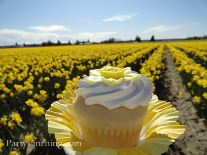 Mother's Day ideas, Mother's Day dessert ideas,,Mother's Day desserts, Mother's day dessert table, daffodil cupcake, lemon cupcake