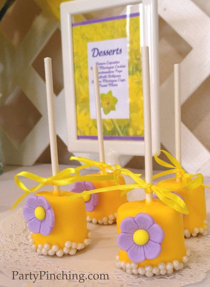 Mother's Day ideas, Mother's Day dessert ideas, Marshmallow pops, pretty marshmallows, pretty marshmallow pops