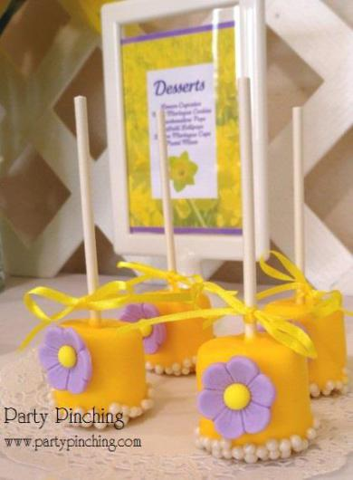 pretty marshmallow pops, flower marshmallow pops, mother's day ideas, pretty cake pop ideas, cute food