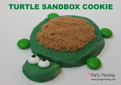 turtle sandbox cookie, summer cookie, summer snack ideas, turtle sandbox little tikes, cute food, turtle cookie, easy summer dessert ideas