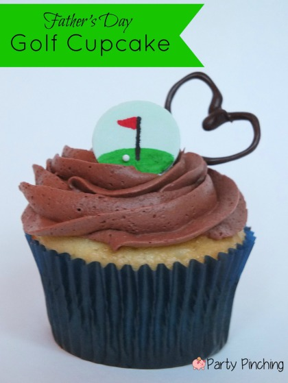 fathers day dessert idea, golf cupcake, easy golf dessert ideas, golf party ideas