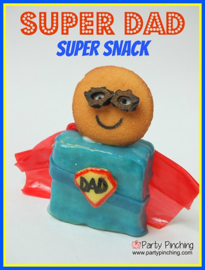 super hero treats, super dad snack, father's day dessert idea, father's day craft idea, super hero party ideas