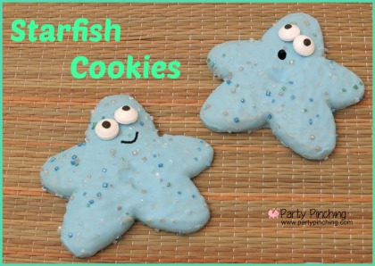 starfish cookies, under the sea party ideas, mermaid party ideas, pirate party ideas, little debbie starfish cookies, cute summer dessert ideas easy for kids