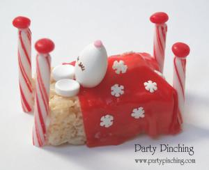 sweet sleeping mouse by party pinching, easy Christmas treats, kid friendly Christmas