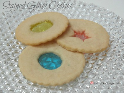 Stained Glass Cookies, pretty Christmas cookies, easy Christmas cookies