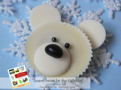 polar bear peanut butter cup, sweet treats for the holidays book, winter party ideas, winter dessert ideas,