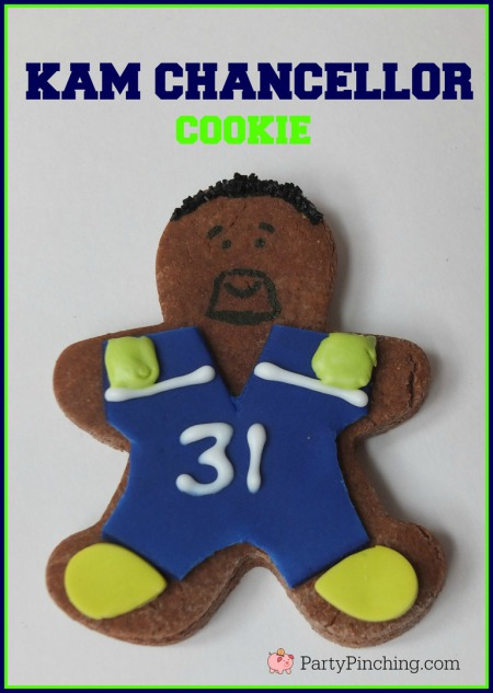 Kam Chancellor, Legion of Boom, #LOB, Seattle Seahawks, Seattle Seahawks cookies, football cookies, football party ideas, Super Bowl party ideas, football dessert ideas