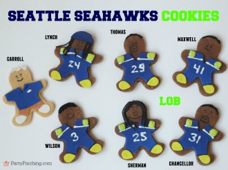Super Bowl cookies, Seattle Seahawks cookies, Seattle Seahawks party, super bowl snack ideas, easy super bowl snacks