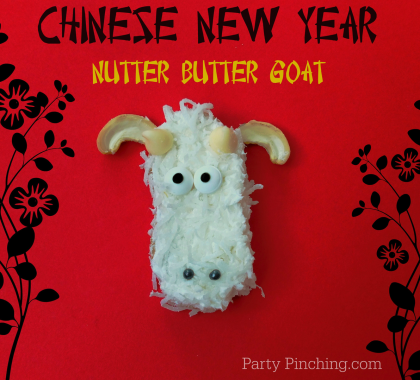 Nutter Butter Goat cookie, chinese new year 2015, year of the goat, lunar new year, goat cookies